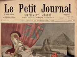 LE PETIT JOURNAL N° 418 - 20 Novembre 1898 Albion Fachoda Charles Dupuy Gouraud Hôpital Charité - Kranten