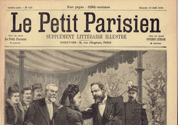 LE PETIT PARISIEN N° 532 (16 Avril 1899) Montélimar Loubet Louise Martin Assassinat - Kranten