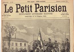 LE PETIT PARISIEN N° 558 (15 Octobre 1899) Salut Au Drapeau  Drame Balcon Arrestation Fou Furieux - Kranten