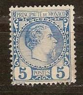 Monaco 1885 Yvertnr. 3  (*) MLH Cote 103 Euro - Neufs