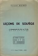 Leçons De Solfège Par Fernand Quinet, Edgard Tyssens, Liège, 1958 12 Pages - Música & Instrumentos