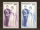 Monaco 1959 Yvertnr. LP PA 71-72 *** MNH Cote 51,00 Euro Couple Princier - Airmail