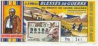 LOTERIE NATIONALE 1962: Blessés De Guerre Tr8 Gr2 - Billets De Loterie