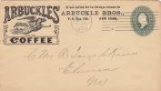 -> Entier Postal Des Etats-Unis (1899) Publicité Des Cafés Arbuckles, Ange - Getränke