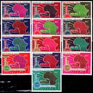 1967** Union Africaine Et Malgache Des Postes Et Télécommunications ( Série Complète ) - France (ex-colonies & Protectorats)