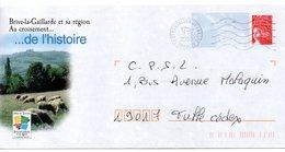 Entier Postal PAP Local Personalisé. Corrèze Brive La Gaillarde Et Sa Région. Au Croisement... De L'histoire (moutons) - Prêts-à-poster: Other (1995-...)
