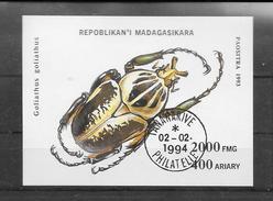 Madagasikara 1994 Y&T Nr BF 90A (o) Met Gom - Abeilles