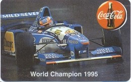 MALAWI : World Champion 1995 Schumacher + Coca Cola  (with Control Number!!) Formule 1 - Malawi