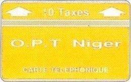 NIGER : 1st CARD !! 10 TAXES 812E  MINT