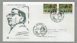 FDC 1974 NU NATIONS UNIES L´ ART AUX NATIONS UNIES PORTINARI PEINTRE - Modernos