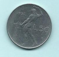 Repubblica Italiana 1957 – Monete Da 1 20 50 E 100 Lire - Serie Quasi Completa_ - 1946-… : República