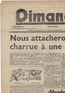 DIMANCHE Du 15/12/1946 La Louvière Saint Joseph Pasteur Paul Lloyd Bézuquet Wallonie Grève - Journaux - Quotidiens