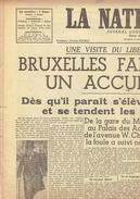 NATION BELGE 16/11/1945 Churchill Indonésie Cobra Félix Gouin Nuremberg Yvan Roy Antwerp Malines Preys Lagrand - Kranten