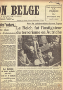NATION BELGE 30/11/1945 Volk En Staat Verlaine Rimbaud Mussert Brugères Verviers Sainte-Gudule Cimarosa - Kranten