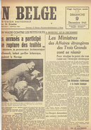 NATION BELGE 9/12/1945 Norvège ULB Hymans Philippines Matadi Petrofina Radio Bruxelles Basyn - Kranten