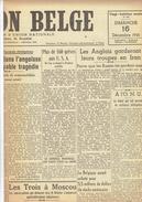 NATION BELGE 16/12/1945 Bataille Ardennes Von Rundstedt De Laveleye Batavia Iran Manneken Pis Nestor Martin Petrofina - Journaux - Quotidiens
