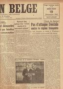 NATION BELGE 19/12/1945 Rosenberg Ostende Halloy Van Laer Decremer Van Hauwermeiren Bois D'Haine Lauwers Biermans - Journaux - Quotidiens