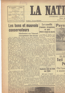 NATION BELGE Du 27/1/1946 Nagasaki Félix Gouin Croix De Lorraine Ersatz Walcheren Petrofina Albert François Sucre - Kranten