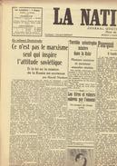 NATION BELGE 22/2/1946 Pie XII Trenet Chah Perse Halifax Sergueev Odéon Van Roey Don Juan Villemain Wouters Knokke Zoute - Journaux - Quotidiens