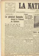 NATION BELGE Du 24/2/1946 Gamelin Indes Hitler Moscou Leningrad Espagne Italie Ath Diables Rouges Decleyn - Newspapers