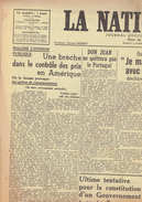 NATION BELGE 16/7/1946 Don Juan Churchill Metz Bikini Mihaïlovitch Pierard Jean L'Aveuglel Ouwerx Semailles Nieuwsbode - Journaux - Quotidiens