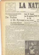 LA NATION BELGE 28/9/1946 Fichte Byrnes Pauwels Destexhe Luguet Gander Chruchill Bruges Nivelles FC Malinois Impanis - Journaux - Quotidiens