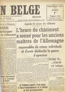 LA NATION BELGE 1/10 1946 Gander Bologne-Destexhe Marcel Muller Louvière Guilini Berchem Sport Daring Mines Ruhr - Kranten