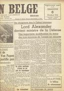 NATION BELGE 6/10/1946 Alexander De Schacht Von Papen Hugenberg Dercksen Senfftleben Van Vliet Zürich Olympic Berchem - Kranten