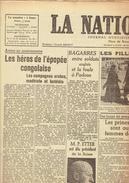NATION BELGE 13/12/1946 Mahdiste Batéléla Blum Giraudoux Ondine De Maegd Woestyn Claudel Louviot Anouilh Billard Fresnay - Kranten