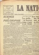 LA NATION BELGE Du 15/12/1946 Herriot Byrnes Ravensbrück Bloy Rouzet Blum Chapelle-lez-Herlaimont Woestyn Salacrou - Kranten