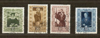 Liechtenstein 1953 Yvertnr.  273-76 (°) Oblitéré Used Cote 75 € - Oblitérés