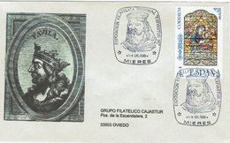 ENVELOPE CANCELLATION EXPOSITION PHILATÉLIQUE - ROI ASTUR 1985 - Sin Clasificación