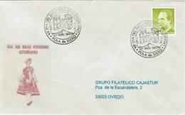 ENVELOPE CANCELLATION JOUR DE LA DANSE D'ASTURIAN RÉGIONALE 1986 - Baile