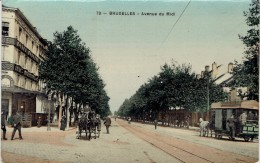 CPA De Bruxelles, Avenue Du Midi, Avec Tram Hippomobile - Strassenbahnen