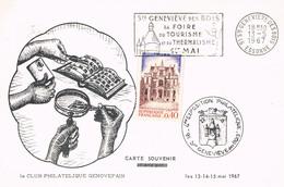 Carte Postale De STE GENEVIEVE DES BOIS CARTE SOUVENIR - Marcophilie (Lettres)