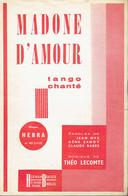 Madone D'amour (Jean Nys, Gene Sandy, Claude Barès, Théo Lecomte), Ed. Herman Brauer, Paris, 1959 - Musique & Instruments