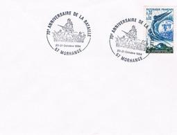 ENVELOPPE 70é ANNIV DE LA BATAILLE MORHANGE 20/21/OCT 1984 - Postmark Collection (Covers)