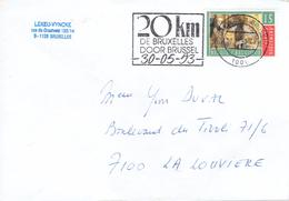 "Très Belle Flamme ""20 Km De Bruxelles - 20 Km Door Brussel 30/05/93"" - Postmark Collection"