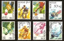 Belgie Belgique 1982 Yvertnr. 2039-2046 (°) Used Football Cycling Cote 12,50 Euro - Belgique
