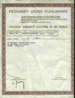 LOT DE 10 X : PECHINEY UGINE KUHLMANN (C.N) - Industrie