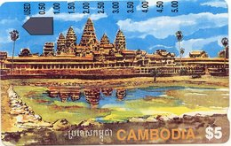 CAMBODIA : CAMT13 $5 Angkor Ruins Rev. I940122 0.00 USED - Cambogia