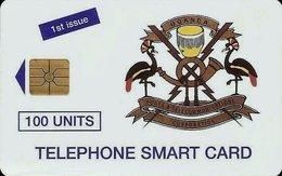 UGANDA : 07 100u TELEPHONE SMART CARD 1st ISSUE  MINT No Blister GEM Red Lines - Oeganda