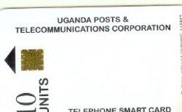 UGANDA : 23A 10u White AC/C.A.T.   11.97 USED - Oeganda