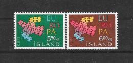 Island 1961 Y&T Nr° 311/12** - 1961
