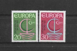 Duitsland1966 Y&T Nr° 376/77 ** - Europa-CEPT