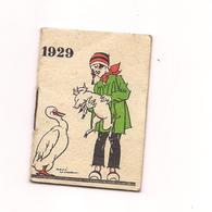 PETIT ALMANACH 1929  PUBLICITE CREME ECLIPSE - Calendriers