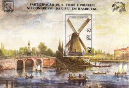 Saint Thomas Et Prince 1984 Non Répertorié Y&T Congrès UPU à Hambourg - U.P.U.