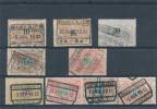Neuf Timbres Chemin De Fer Oblitérés BRAINE L´ALLEUD 1902 / 1913  --  2465 - 1895-1913