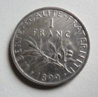 SUPERBE Pièce En Argent De 1 Franc Type Semeuse -1899 - France