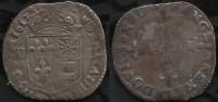 LOUIS XIII . 1/4 D'ECU DE FRANCE . NAVARRE . BEARN .  1617 M . - 1610-1643 Lodewijk XIII Van Frankrijk (De Rechtvaardige)